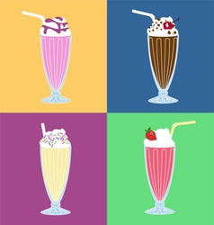 Milk-shakes vector