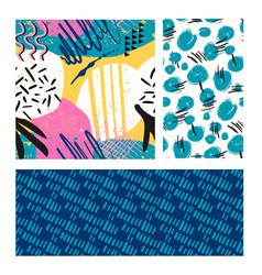 minimal scandinavian pattern vivid colors pink vector image
