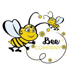 modern bee logo vector image