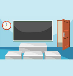 Modern empthy classroom background vector