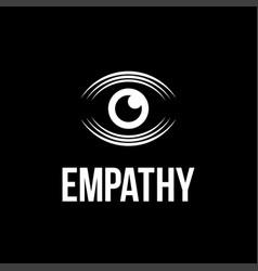 modern professional logo eye empathy vector image