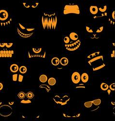 monsters halloween pattern 2 vector image