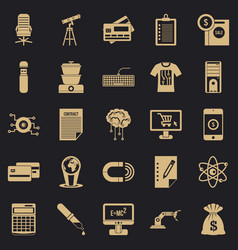 mortgage icons set simple style vector image