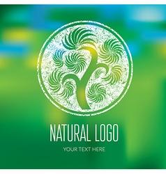 Natiral Logo 07 grunge vector image