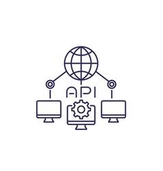 Network api line icon vector