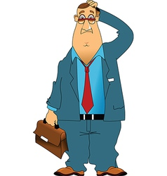 Old businessman cartoon vector