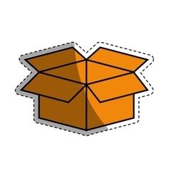Open box symbol vector