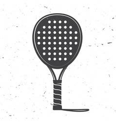 Padel tennis racket icon vector