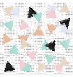 Pastel backdrop with triangles vector