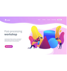 Photography workshop concept landing page vector