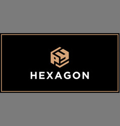 py hexagon logo design inspiration vector image