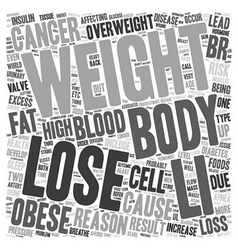reason to lose weight now text background vector image