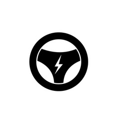 Rudder lightning icon on white background can be vector