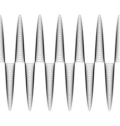 set of waves with augmented amplitude vector image