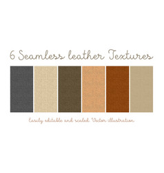 Set seamless leather textures vector