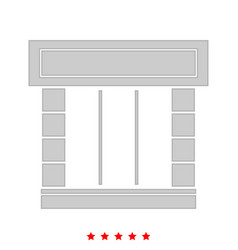 shopfront it is icon vector image