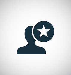 star profile icon vector image
