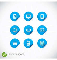 Sticker Icons vector image
