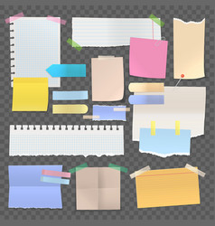 sticky paper notes or set isolated stickers vector image