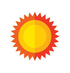 Sun - flat style icon on white background vector