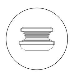 Tanning bed icon in outline style isolated on vector