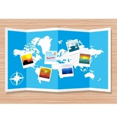 Travel photos with camera vector image