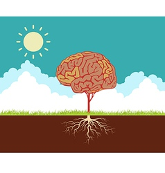 Tree brain vector