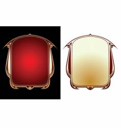 Two red gold frames vector