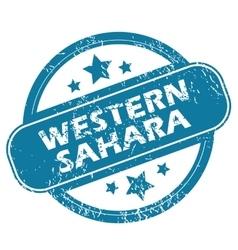 WESTERN SAHARA round stamp vector