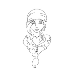 Young girl Picture for coloring vector