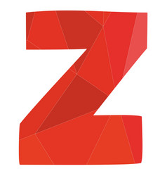 Z red alphabet letter isolated on white background vector