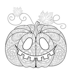 Zentangle stylized Pumkin vector image