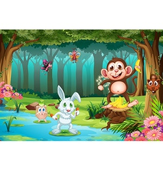 Animals and jungle vector image vector image