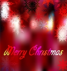 blurred background with snowflakes 1 vector image