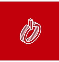 isometric power icon vector image