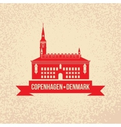 City hall The symbol of Copenhagen Denmark vector image