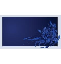 dark blue background vector image