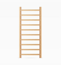 gymnastics wall bars ladder swedish staircase vector image