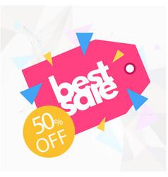 banner best sale 50 off image vector image