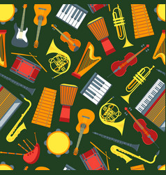 cartoon musical insrtuments background pattern on vector image vector image