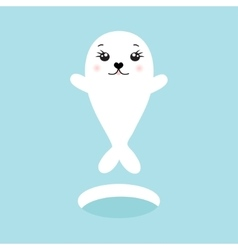 Cute seal of cute cartoon vector image vector image
