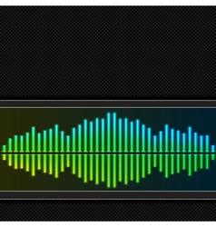 Equalizer background vector image