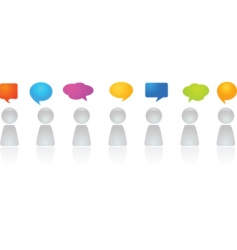 human figures with dialog bubbles vector image