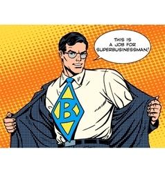 Job super businessman hero vector