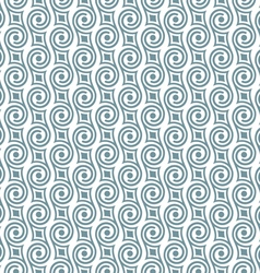 Stylish seamless retro pattern with swirls vector image vector image