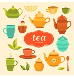 tea11 vector image vector image