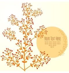 watercolor card with branches vector image vector image