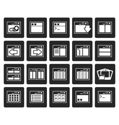 Black Application Programming Server vector image vector image