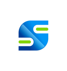 letter s technology logo vector image vector image