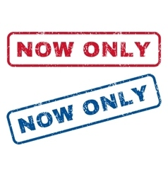 Now Only Rubber Stamps vector image